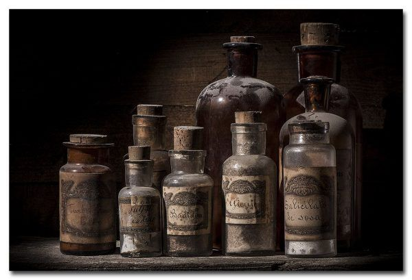Antique pharmacy jars
